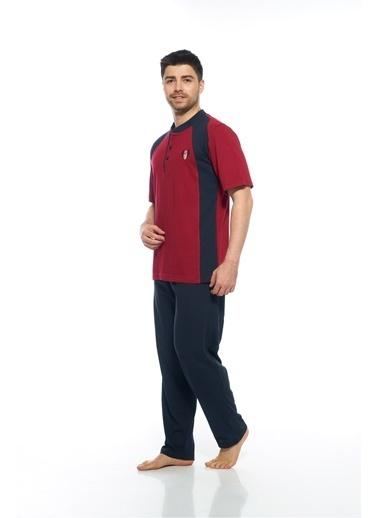 Estiva Pijama Takım Bordo